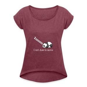 Panda Dodo (Dormir) - T-shirt à manches retroussées Femme