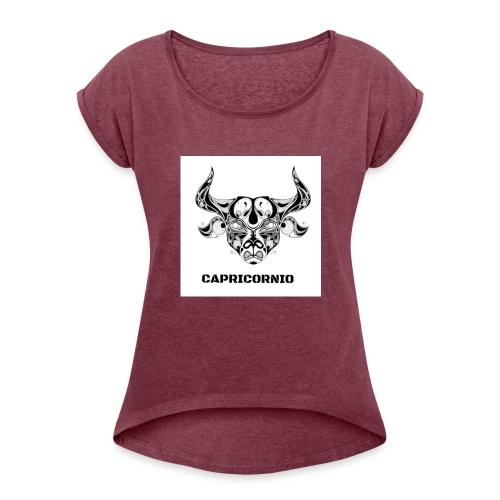 CAPRICORNIO - Camiseta con manga enrollada mujer