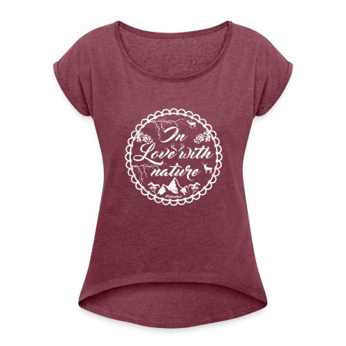 Naturliebe - Frauen T-Shirt mit gerollten Ärmeln