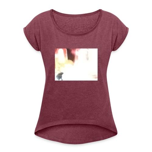 image - Frauen T-Shirt mit gerollten Ärmeln