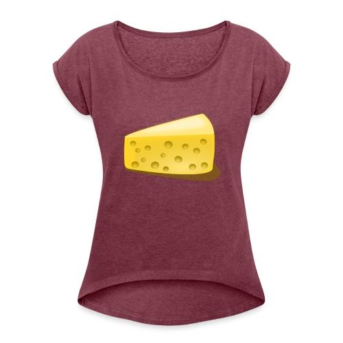 Kaas - Vrouwen T-shirt met opgerolde mouwen
