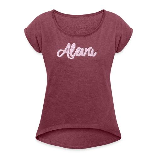 aleva - Frauen T-Shirt mit gerollten Ärmeln