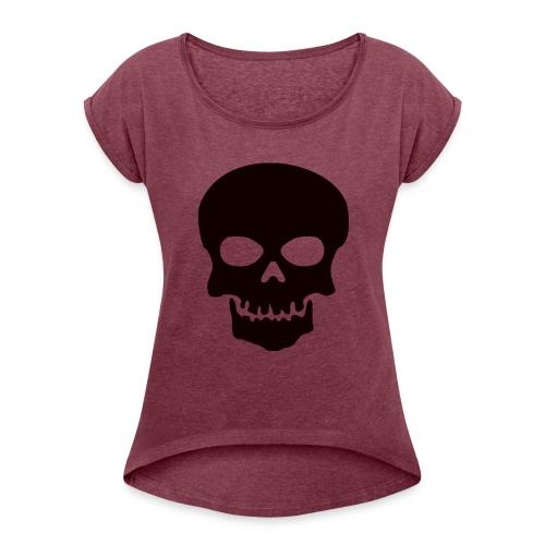 Skeleton-Style - T-skjorte med rulleermer for kvinner