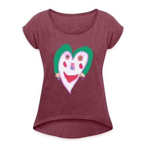 Carazon - Camiseta con manga enrollada mujer
