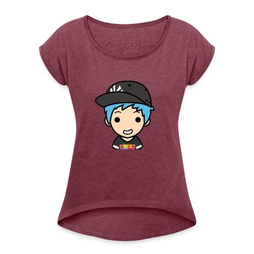 EnchantedGamer26 logo - T-shirt à manches retroussées Femme