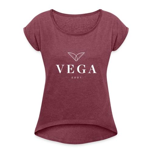 VEGA logo - Dame T-shirt med rulleærmer