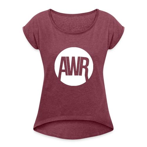 ArmooWasRight Logo - Vrouwen T-shirt met opgerolde mouwen