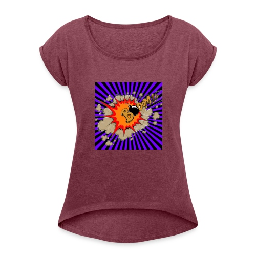 LOGO CANAL - Women's T-Shirt with rolled up sleeves