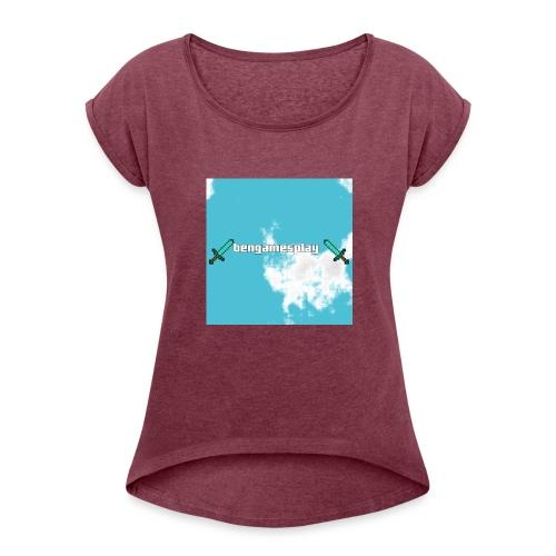 pull - Vrouwen T-shirt met opgerolde mouwen