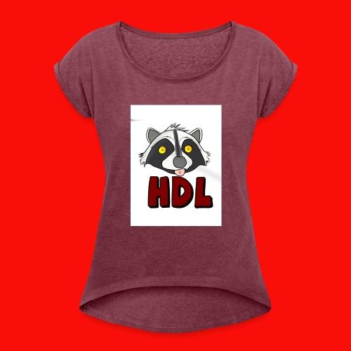 HeadLights Logo Shirt - Vrouwen T-shirt met opgerolde mouwen
