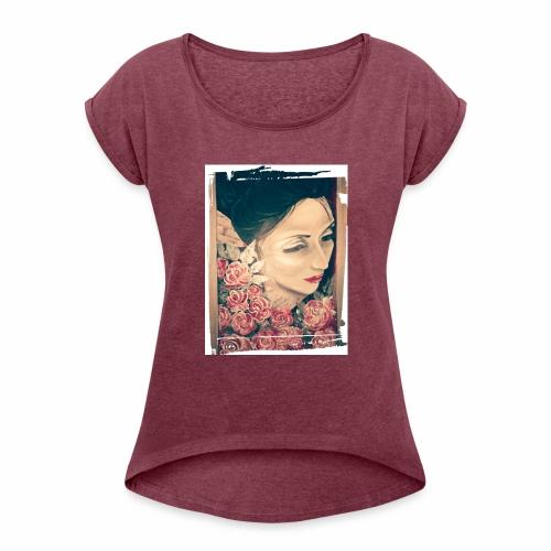 Lady Rose, - Maglietta da donna con risvolti