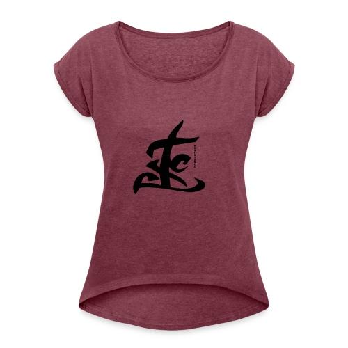 resistencia TEKST - Vrouwen T-shirt met opgerolde mouwen