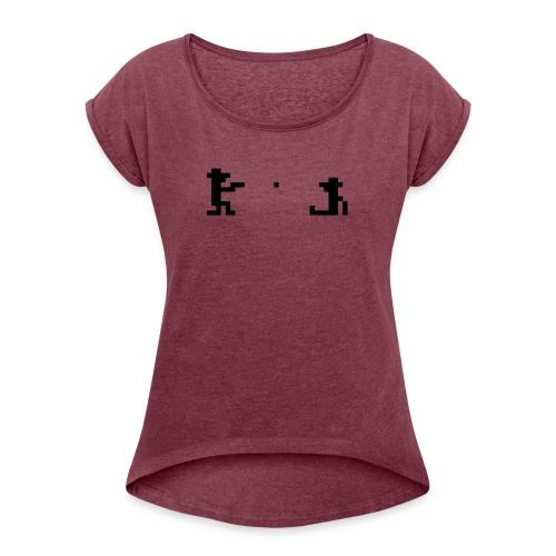 Retro Outlaw - T-skjorte med rulleermer for kvinner