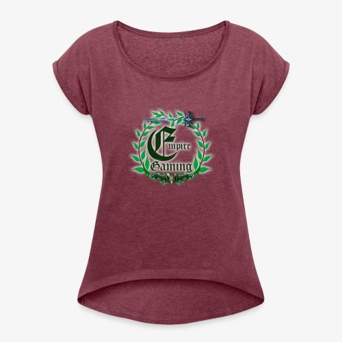Empire WoW Logo - Frauen T-Shirt mit gerollten Ärmeln