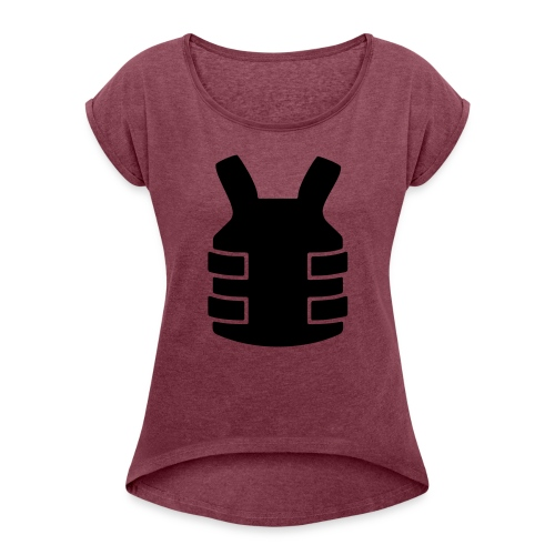Bullet Proof Design - Women's T-shirt with rolled up sleeves