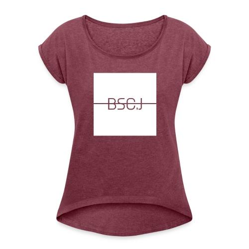 BSC.J - Vrouwen T-shirt met opgerolde mouwen