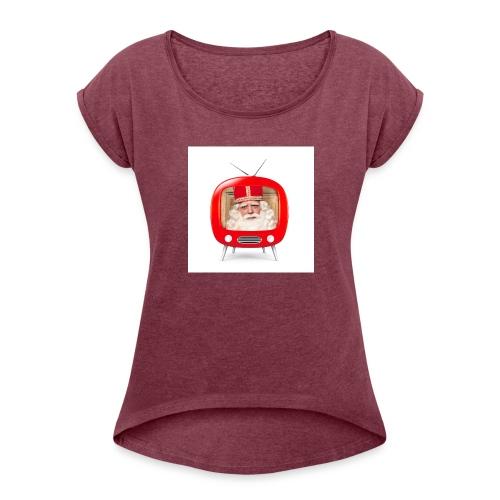 Video van Sint T-Shirt - Vrouwen T-shirt met opgerolde mouwen