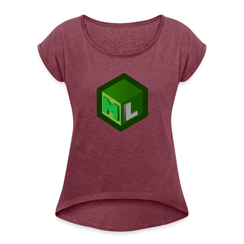 Logo ML - Women's T-Shirt with rolled up sleeves