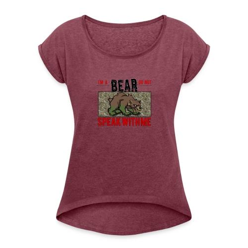 Obbear - Maglietta da donna con risvolti