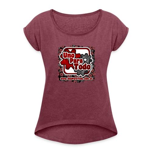 Remera Uno Para Todo mas web - Camiseta con manga enrollada mujer