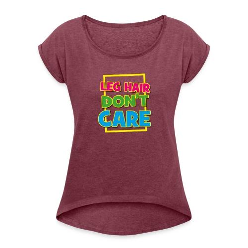 LEGHAIR - T-shirt med upprullade ärmar dam