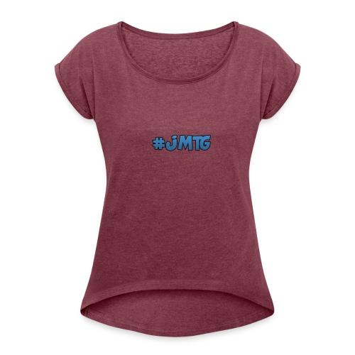 JustMTGames T-Shirt - Vrouwen T-shirt met opgerolde mouwen