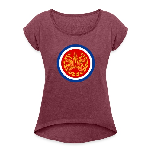JNA Jugoslovenska Narodna Armija Training - Women's T-Shirt with rolled up sleeves