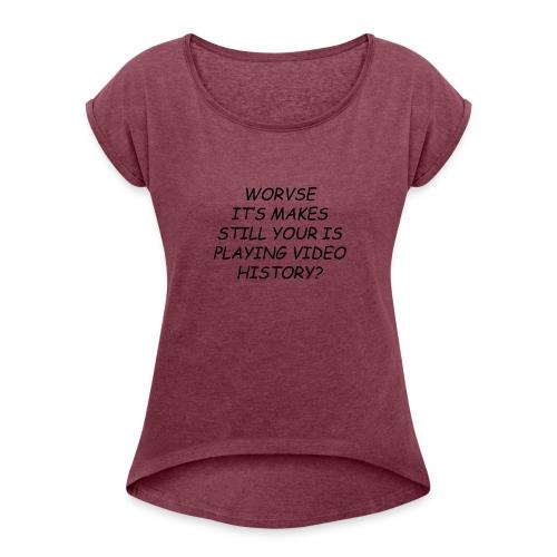 kobe_1 - T-skjorte med rulleermer for kvinner