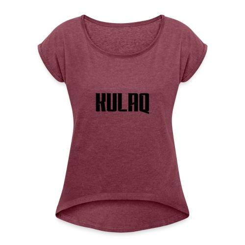 KULAQ - Koszulka damska z lekko podwiniętymi rękawami