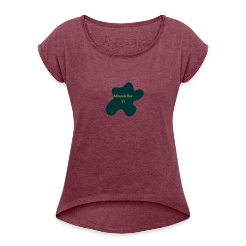 Miranda Bos_YT Merchandise - Vrouwen T-shirt met opgerolde mouwen
