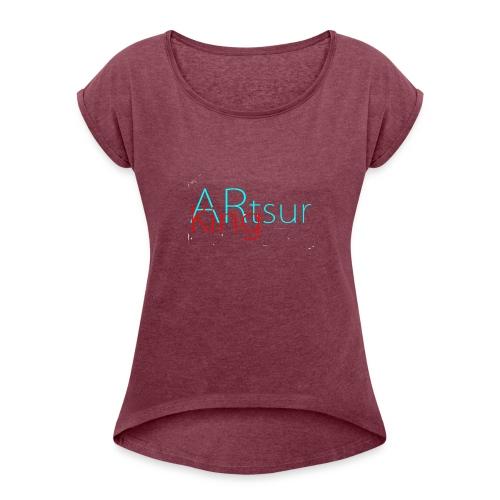 ARtsurKing Logo - Dame T-shirt med rulleærmer