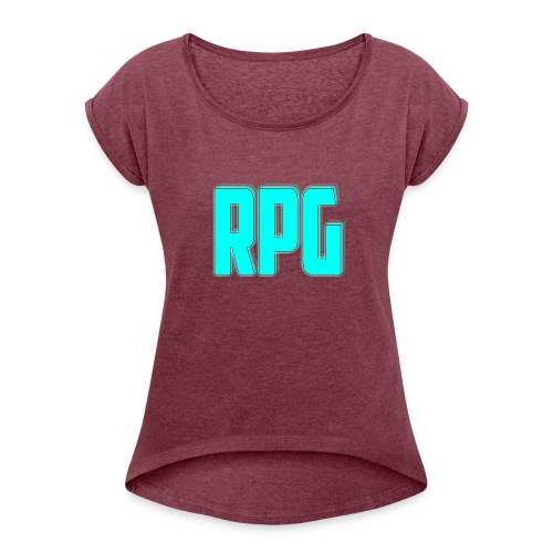 RPG Logo - Women's T-Shirt with rolled up sleeves