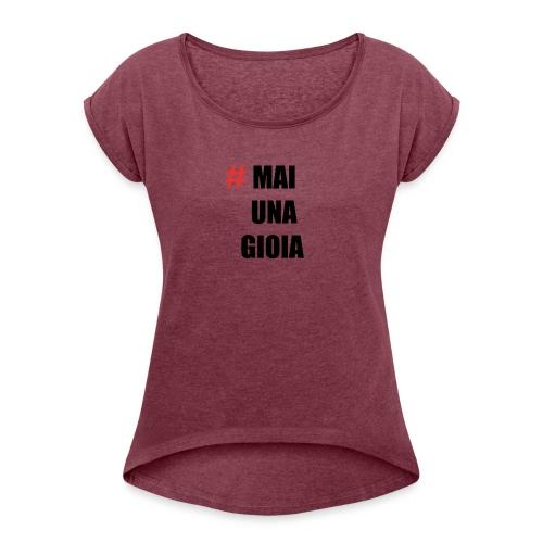 MAGLIA_1 - Maglietta da donna con risvolti