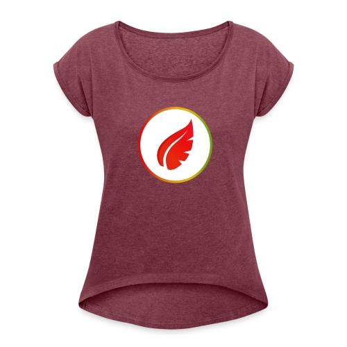 Red Autumn - T-shirt à manches retroussées Femme