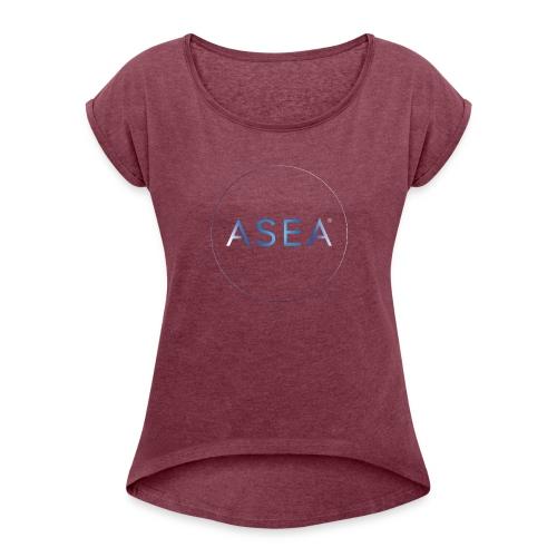 ASEA2 - Vrouwen T-shirt met opgerolde mouwen
