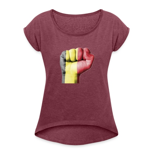 La résistance Belge - T-shirt à manches retroussées Femme