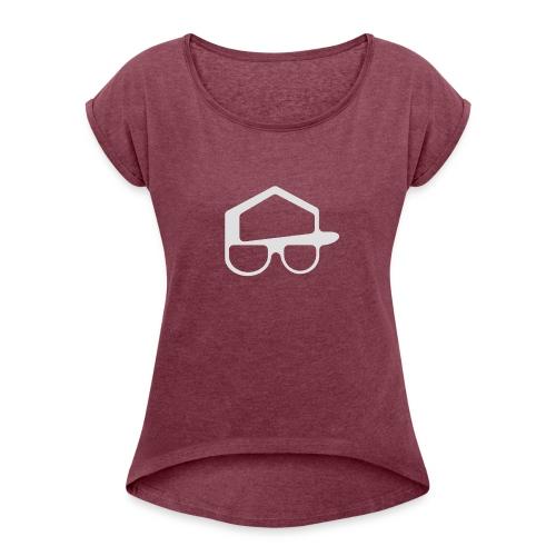 Offisiell p0kker - T-skjorte med rulleermer for kvinner