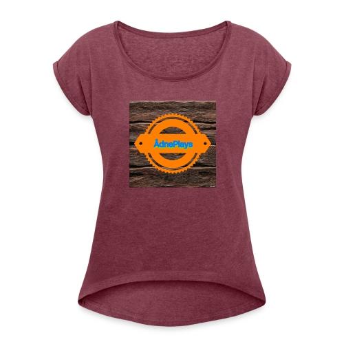New - T-skjorte med rulleermer for kvinner