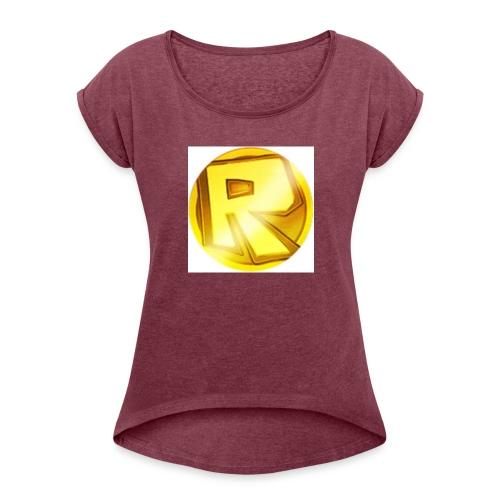 Razzerzlogoshirt - Women's T-Shirt with rolled up sleeves