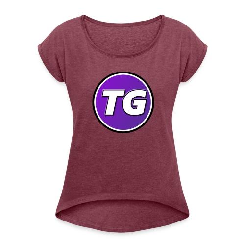 TijhuisGamer merchandise - Vrouwen T-shirt met opgerolde mouwen