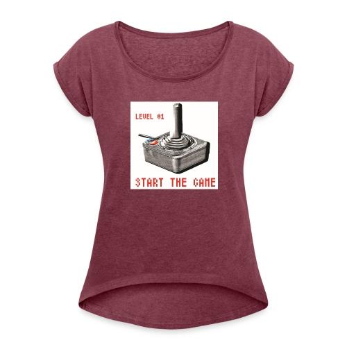 LEVEL 01 - T-shirt à manches retroussées Femme