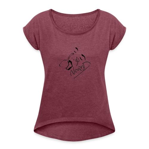 Giclé - T-shirt à manches retroussées Femme