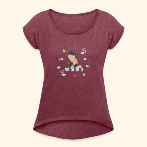 W/S/B/I - Frauen T-Shirt mit gerollten Ärmeln