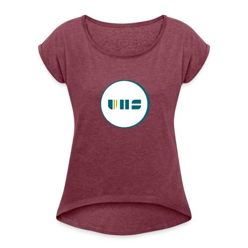 UHS Logo - Frauen T-Shirt mit gerollten Ärmeln