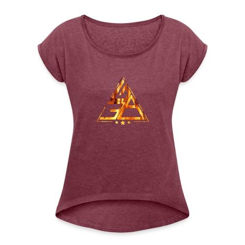 Triangle de feu - T-shirt à manches retroussées Femme