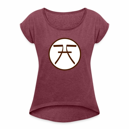 FHF Logo - Women's T-Shirt with rolled up sleeves
