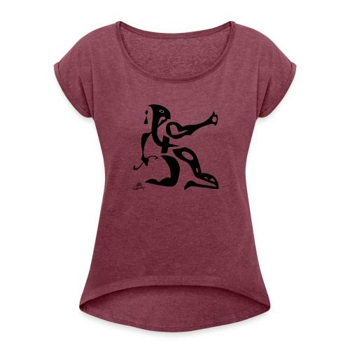 The Sphinx - Dame T-shirt med rulleærmer
