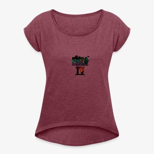Enzo TV Merchandising - Frauen T-Shirt mit gerollten Ärmeln