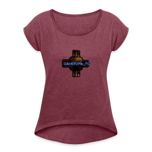 Maglietta con Logo - Maglietta da donna con risvolti