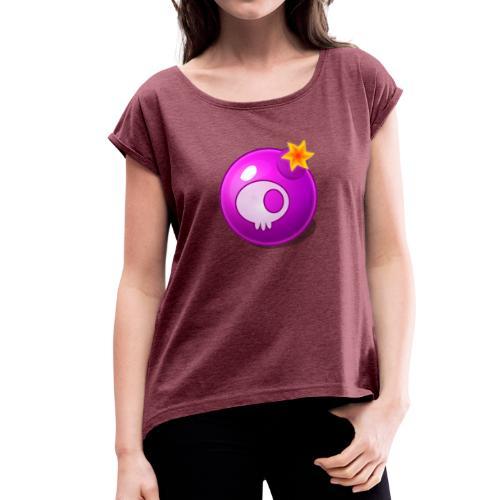 Woobly Blocks - Bomb - Frauen T-Shirt mit gerollten Ärmeln